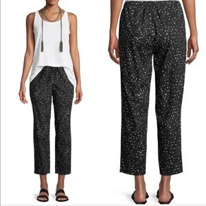 NEW • Eileen Fisher • Dot Print Slouchy Ankle Pant
